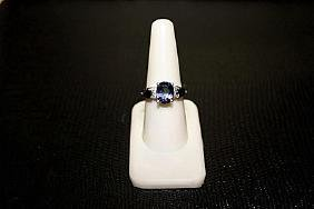 Very Beautiful  White Gold over Silver Lab Alexandrite