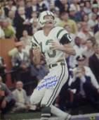 Don Maynard Signed New York Jets 16X20 Photo HOF 87