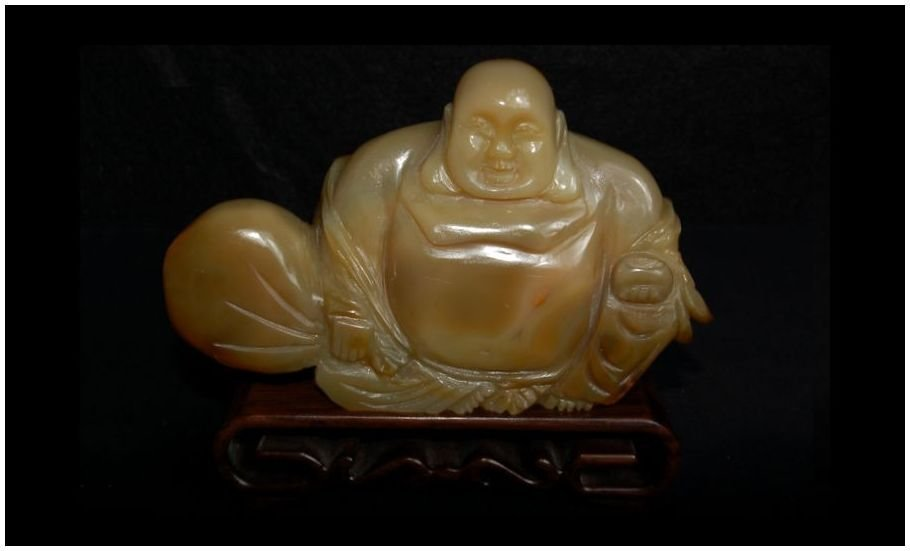 Chinese Agate Hotei carved Antique