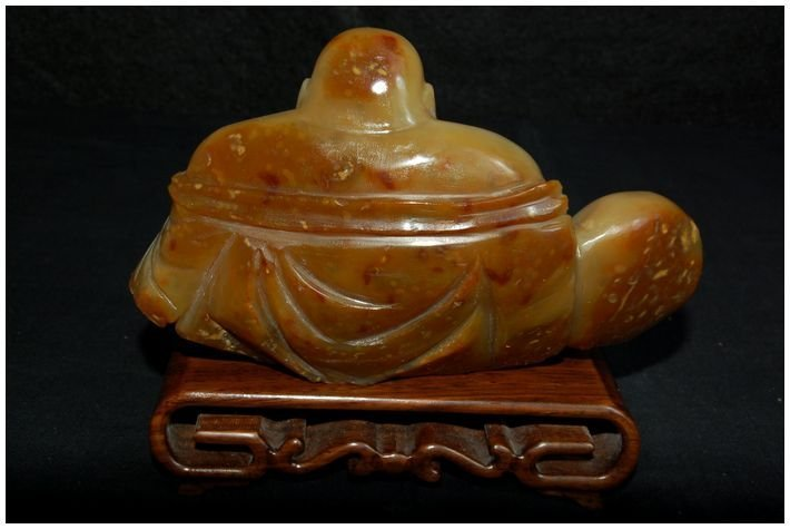 Chinese Agate Hotei carved Antique - 4