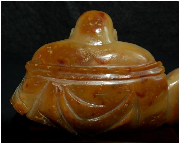 Chinese Agate Hotei carved Antique - 6