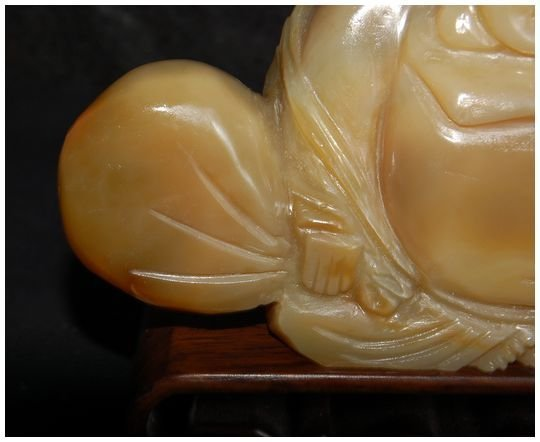 Chinese Agate Hotei carved Antique - 8