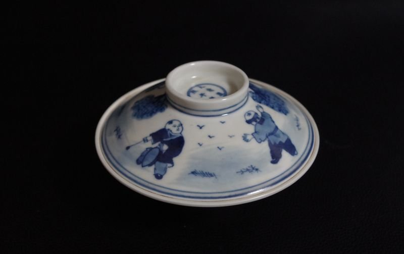 Blue and White Porcelain bowl Qing Dynasty; - 4