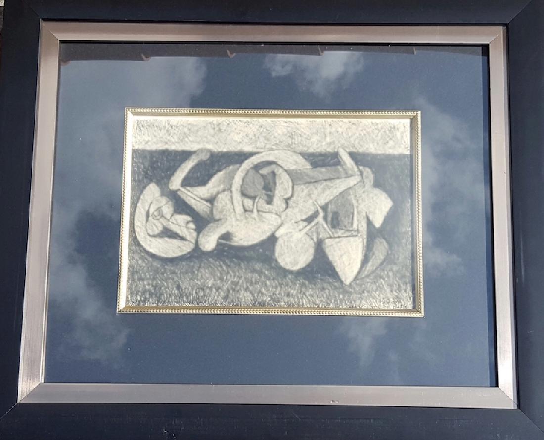 Rufino Tamayo-Abstracto-Charcoal on Paper (Attrib.)