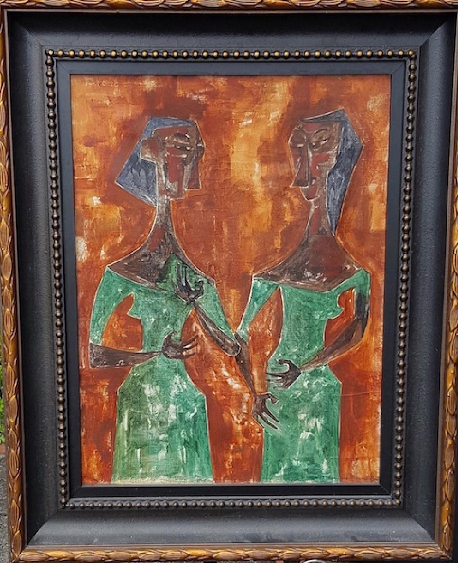 Cundo Bermudez-Untitled-Oil on Canvas (attrib.)