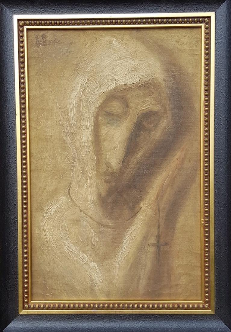 Fidelio Ponce-Beatas-Oil on Canvas (Attrib.)