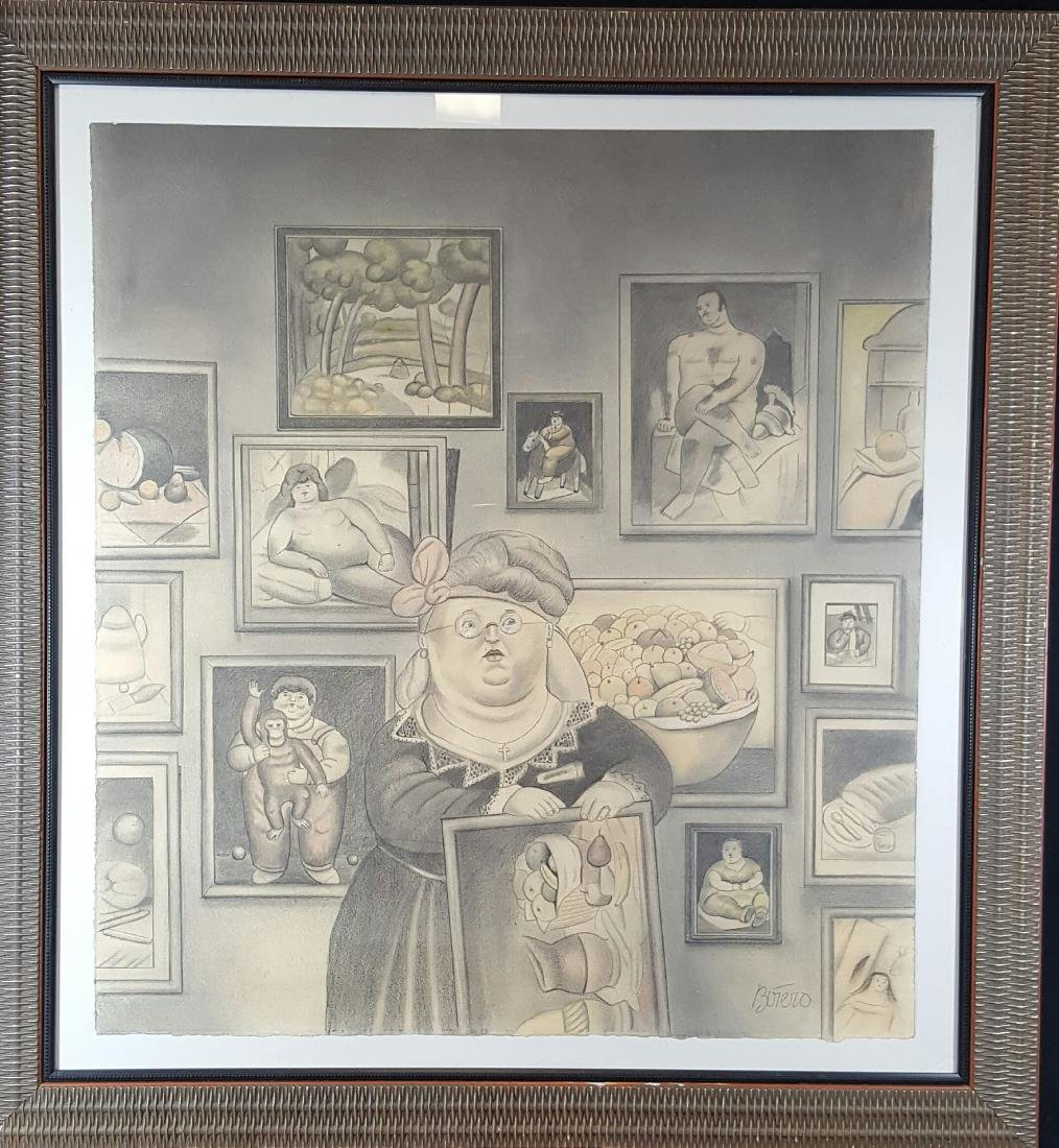 Fernando Botero  (coa) Grafito pencil on paper ( The