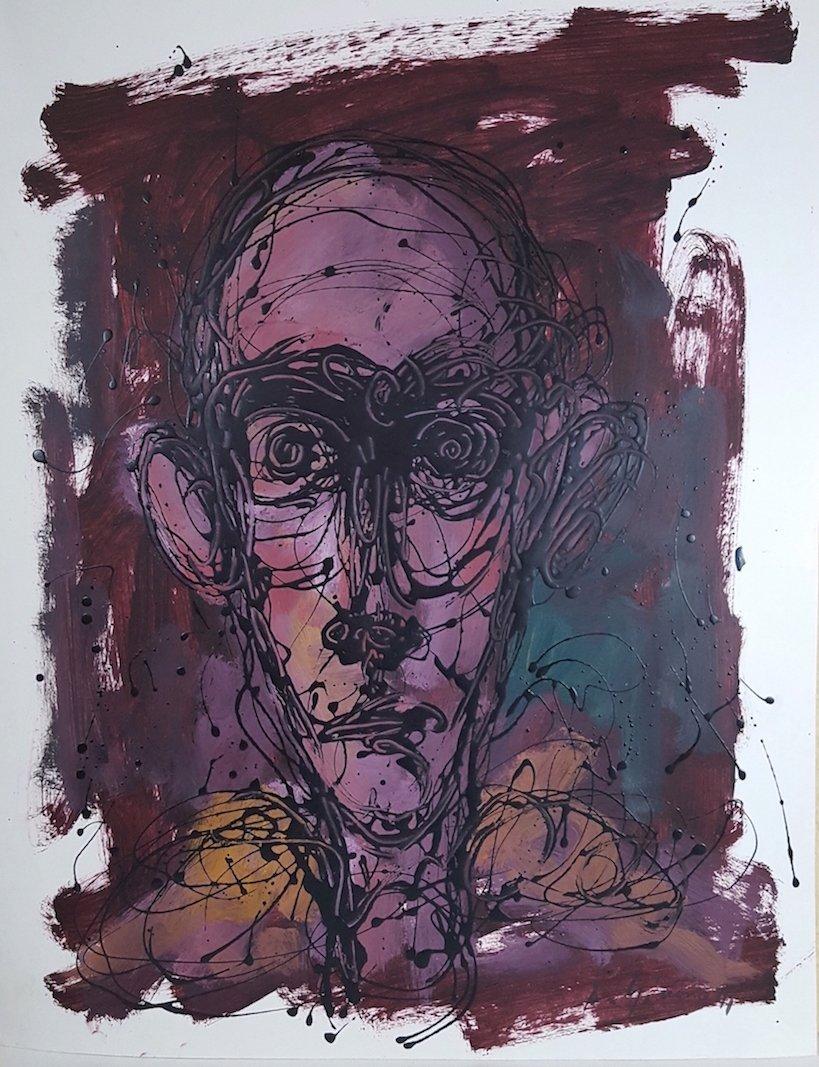 Alberto  Giacometti-(Attrib.)-(COA)-Oil in