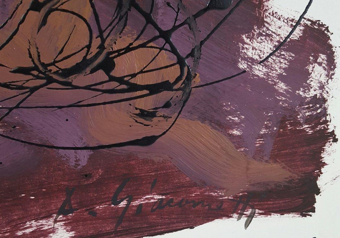 Alberto  Giacometti-(Attrib.)-(COA)-Oil in - 2