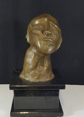 """Jose Luis Cuevas, Bronze over Marble-Size:15""""h X 8""""w  X"""