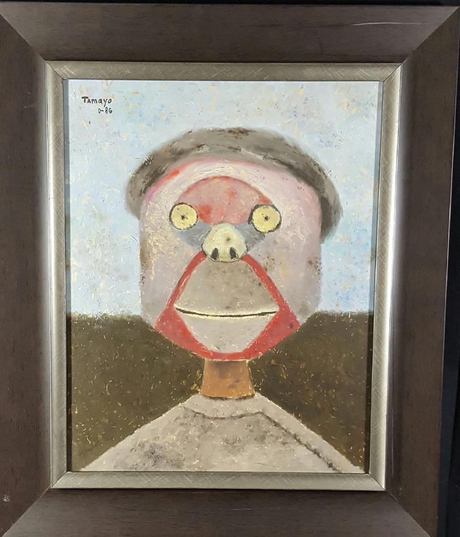 "Rufino Tamayo Attrib (coa)oil on canvas-size 19.5""h x"