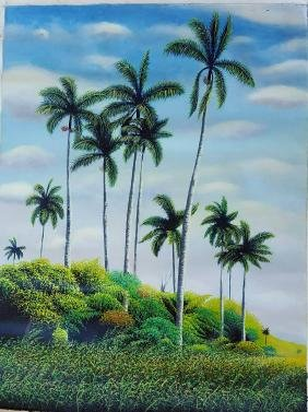 "Marcos Olivera-Oil on canvas- Cuban painter- Size: 32""h"
