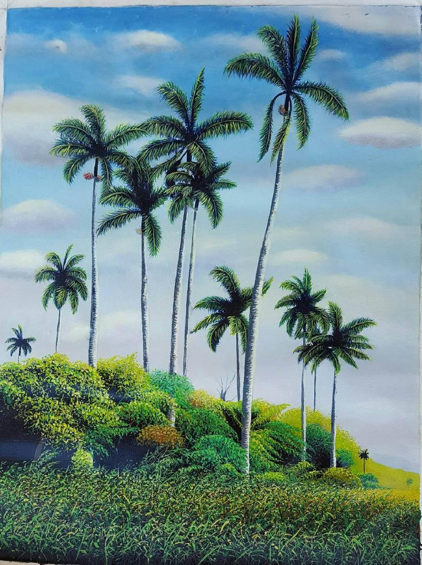 """Marcos Olivera-Oil on canvas- Cuban painter- Size: 32""""h"""