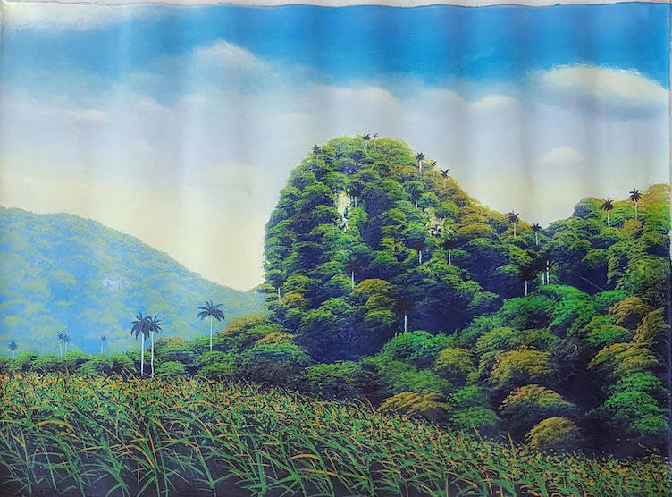 """Marcos Olivera-Oil on canvas- Cuban painter- Size: 24""""h"""