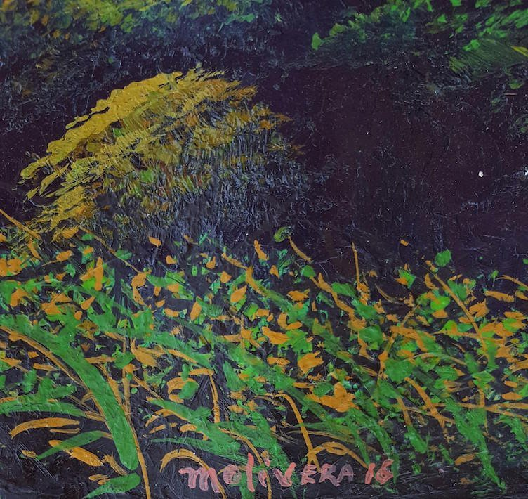"""Marcos Olivera-Oil on canvas- Cuban painter- Size: 24""""h - 2"""