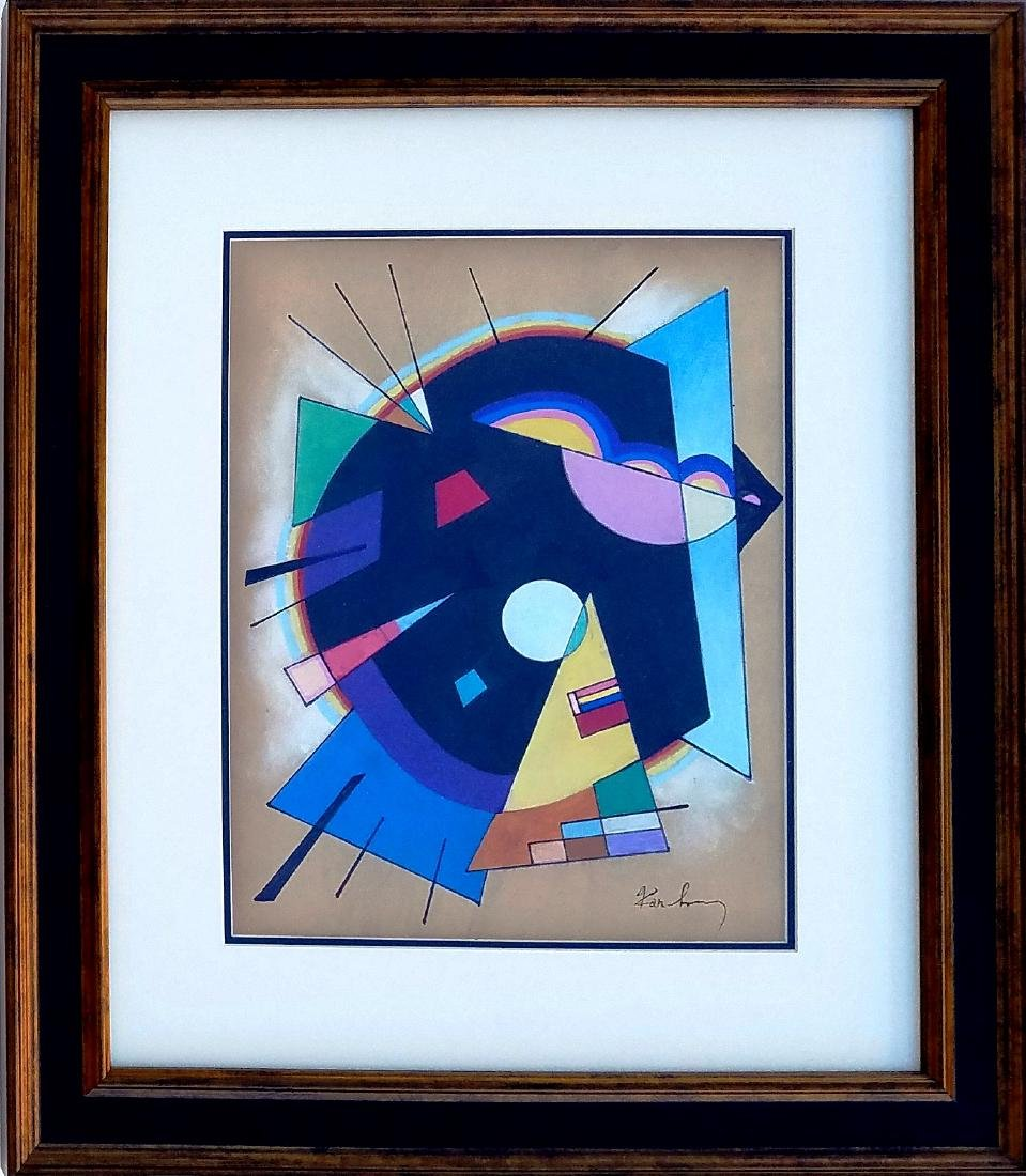 "Vassily Kandinsky-Watercolor-Size: 13.5""h X 11""w-With"