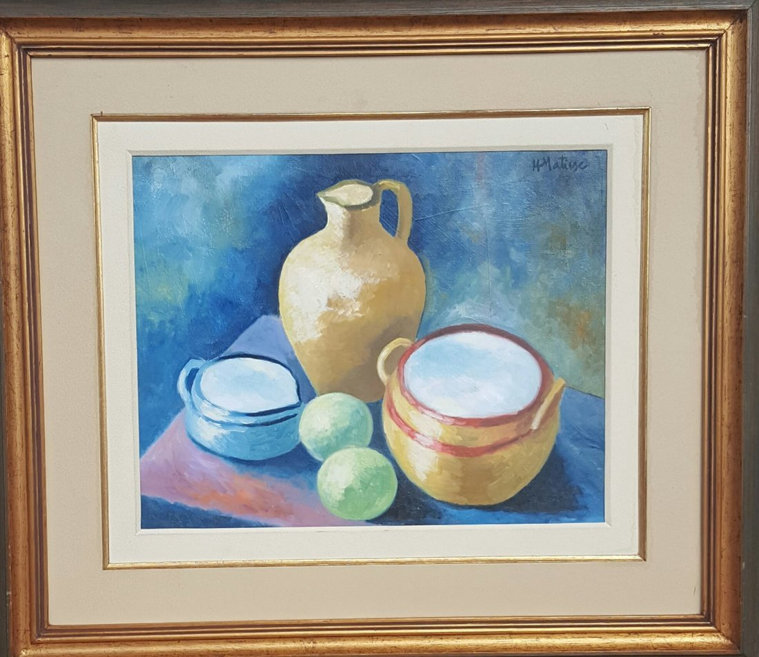 """Henry Matisse (coa) (Attrib) Oil on canvas, size :16""""h"""