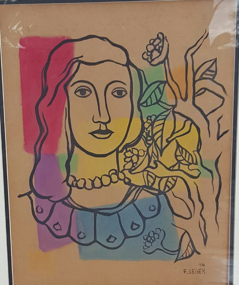 Fernand Leger (attrib)(coa) Water Color on paper, size
