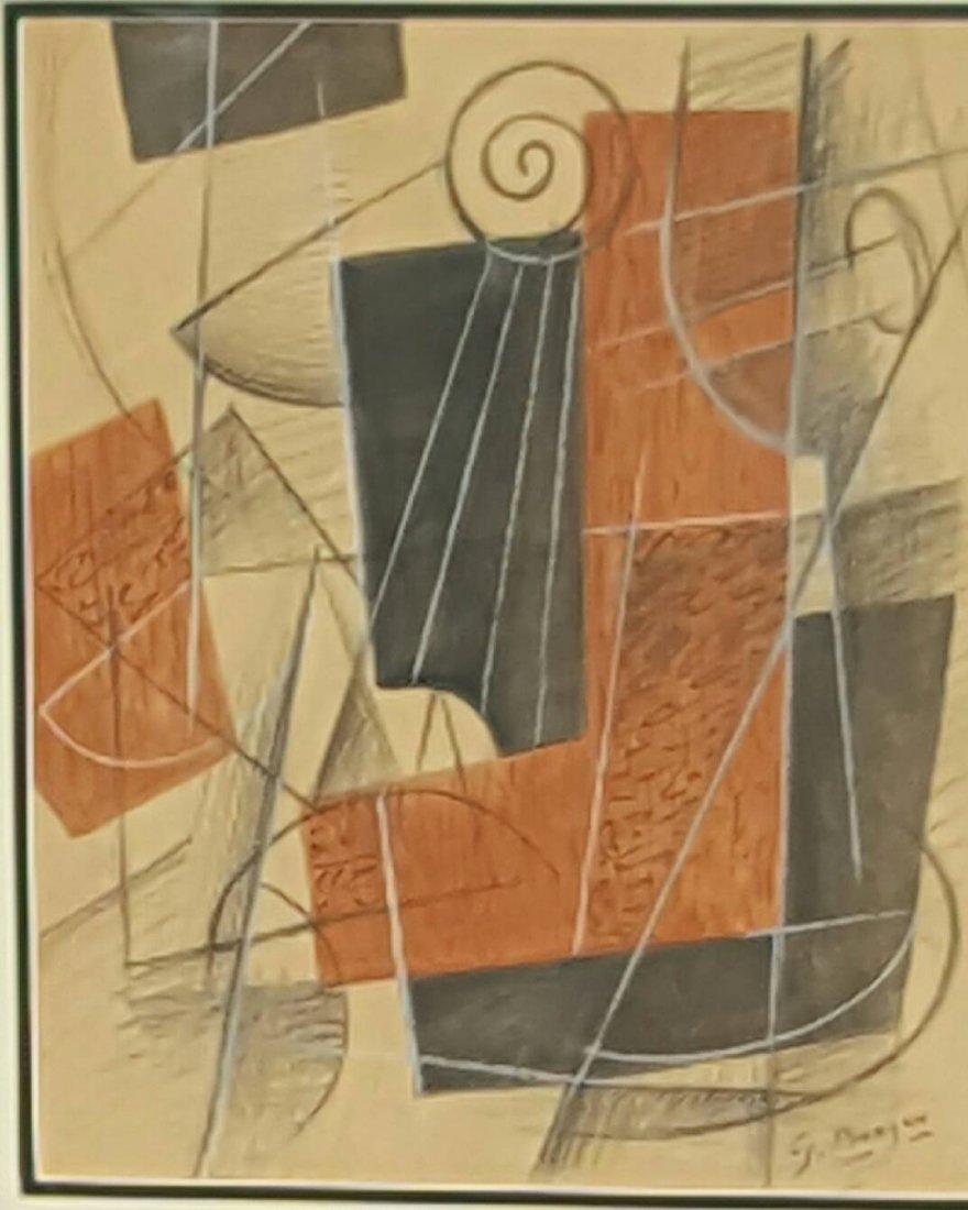 George Braque(1882-1963) (attrib)Mixed Media on paper-