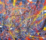 Jackson Pollock (1912-1956)(attrib)- (coa) Oil on