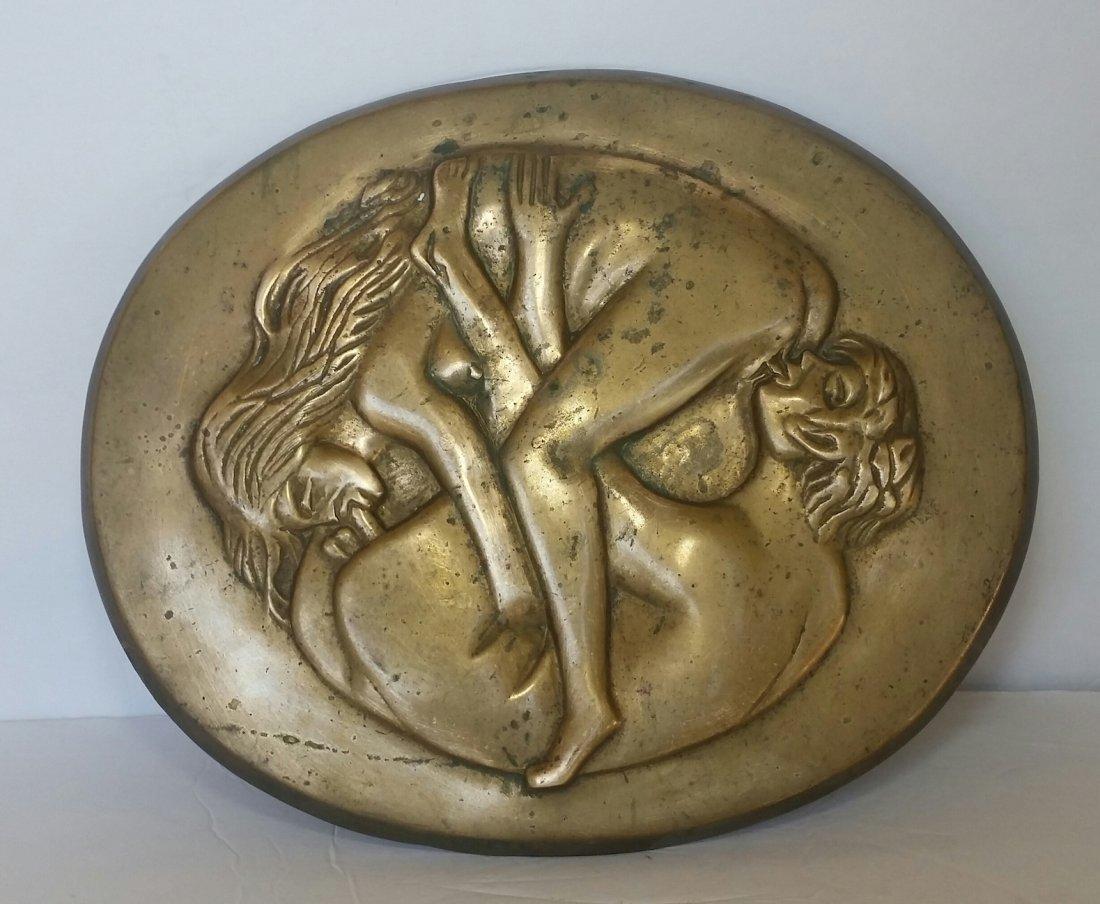 "Antique Bronze Erotic-""THE 69 ""-size: 12""L x 15""w"