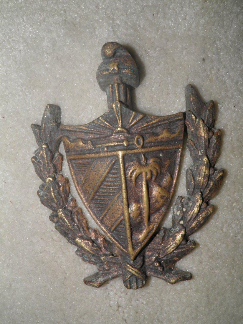 Cuban heraldic bronze plaque of Cuba-Cuban institution