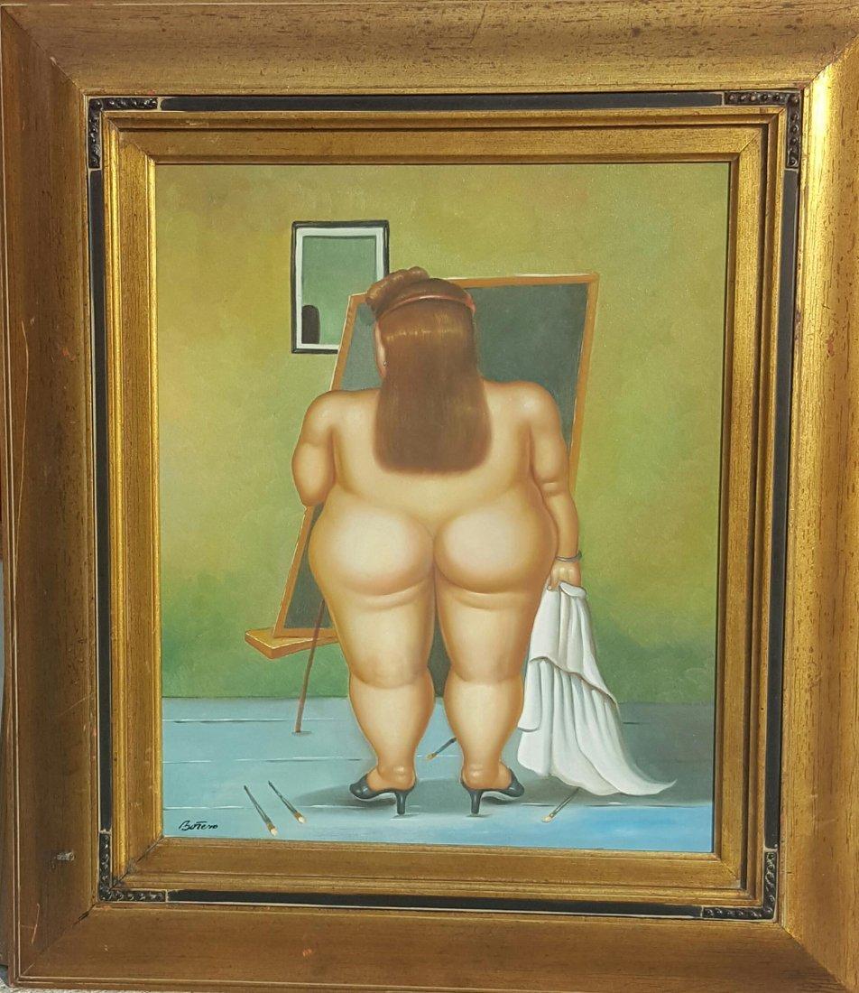"Fernando Botero- Oil on Canvas-Size: 24""h X 20""w-"