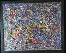 Jackson Pollock- (coa) (attrib)- oil on canvas-