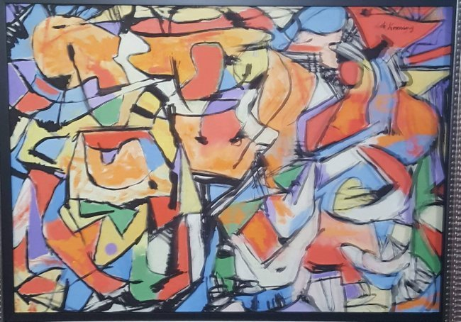 "Willem de Kooning (1904-1997) oil on canvas size:21""h x"