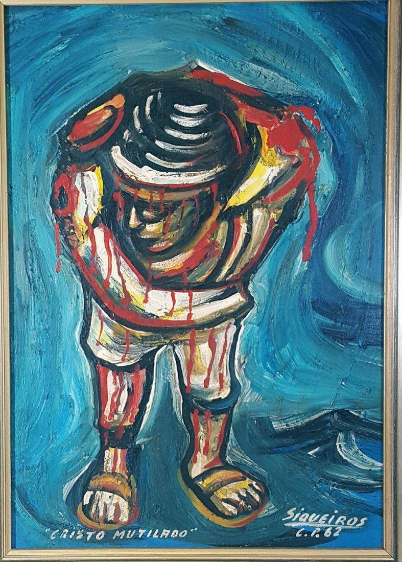 David Alfaro Siqueiros (1896-1974) (coa)Oil on