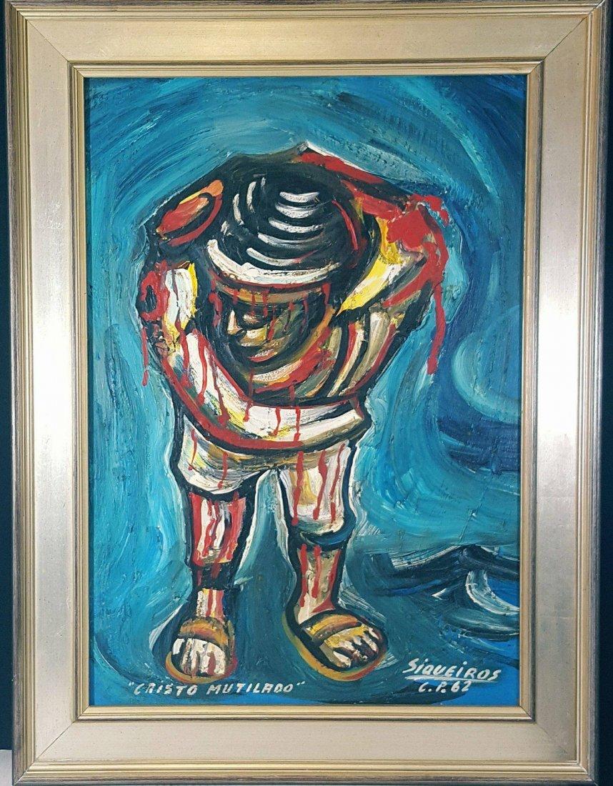 David Alfaro Siqueiros (1896-1974) (coa)Oil on - 2