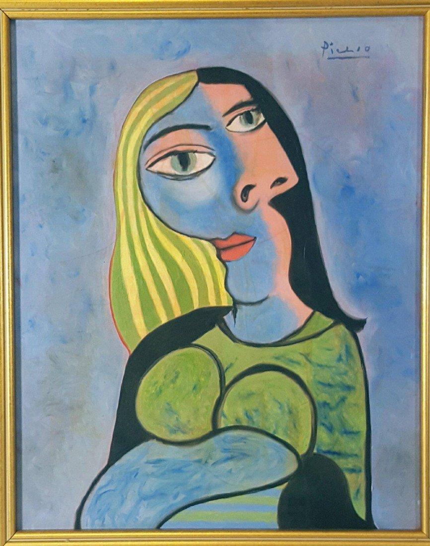 Pablo Picasso (1881-1973)-oil on canvasr-  ATTRIB.