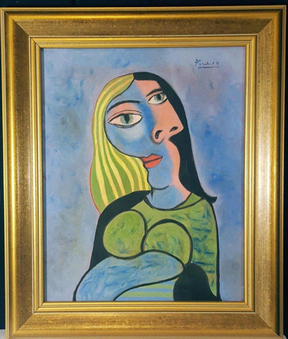 Pablo Picasso (1881-1973)-oil on canvasr-  ATTRIB. - 2