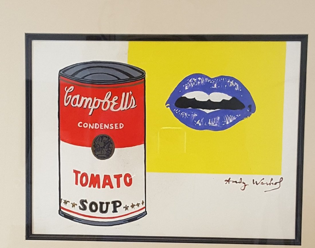 Andy warhol (1928-1987) (attrib)-(coa)Water color on