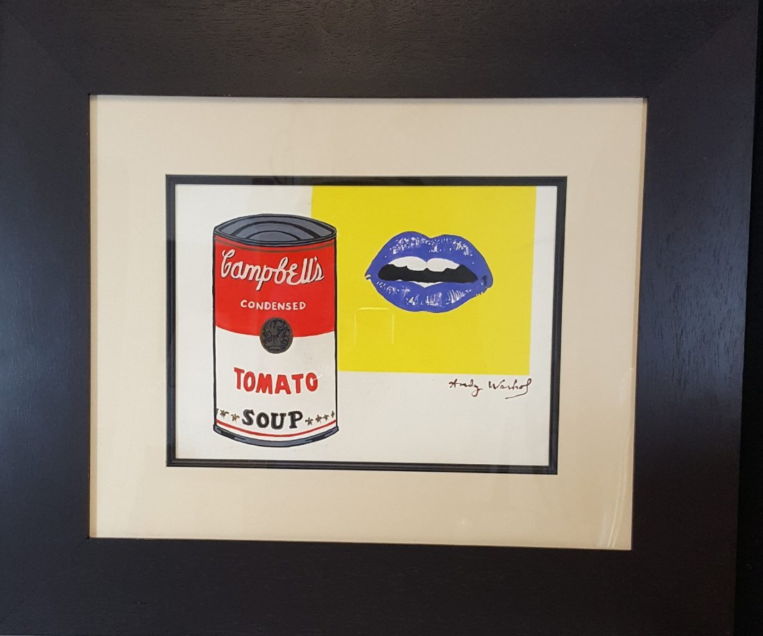 Andy warhol (1928-1987) (attrib)-(coa)Water color on - 2