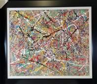 Jackson Pollock (1912-1956) House paint  on canvas (att