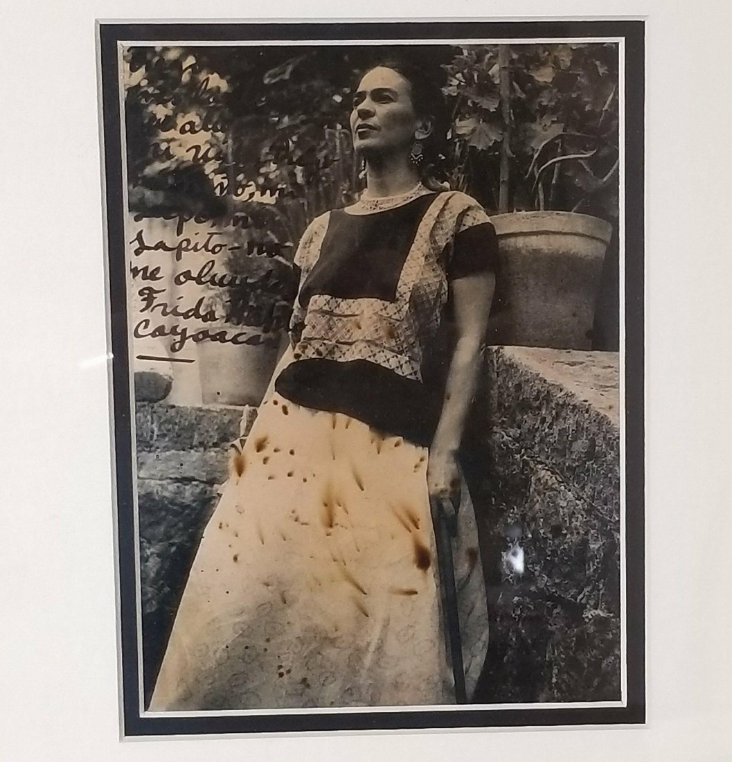 Frida Kahlo (1907-1954)Photograph ,signed by the artist