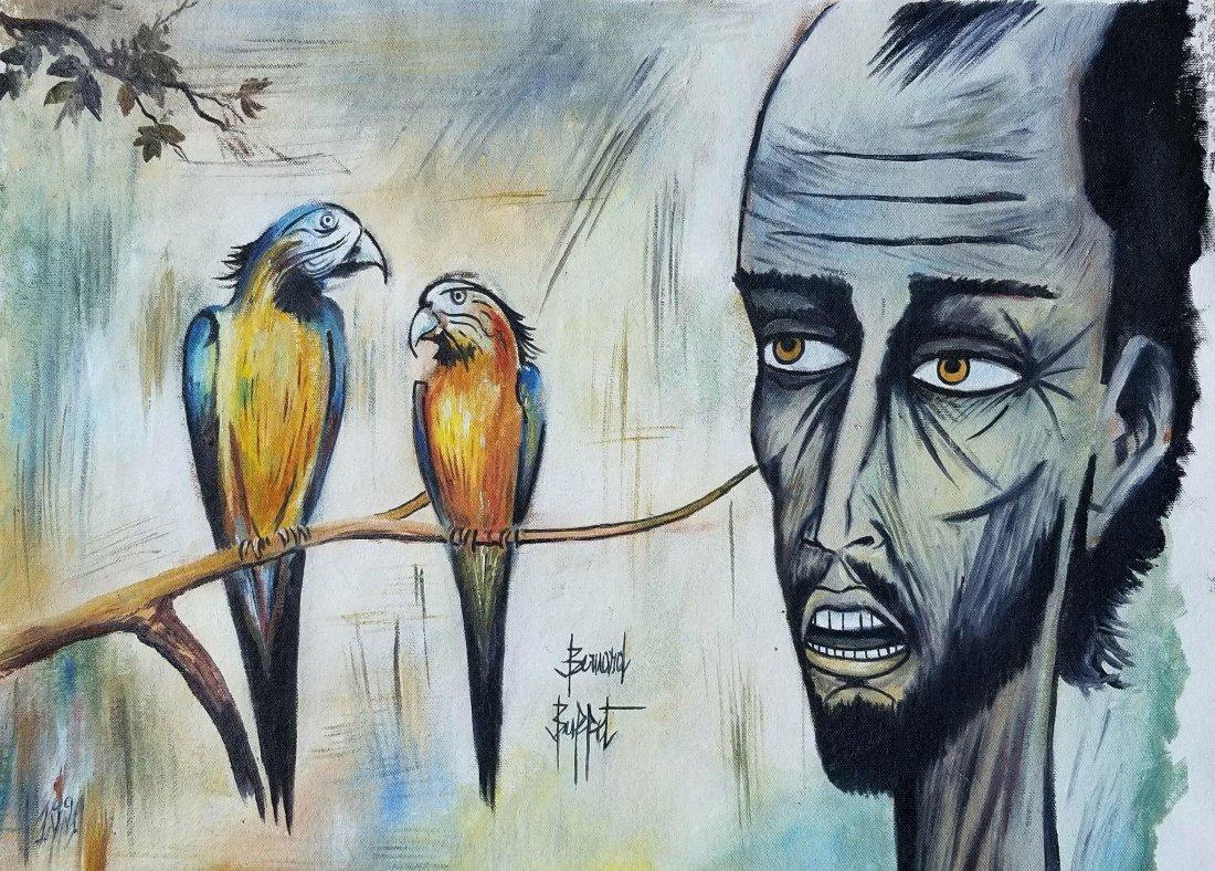 Bernard Buffet(1928-1999 was a French painter of  Expre