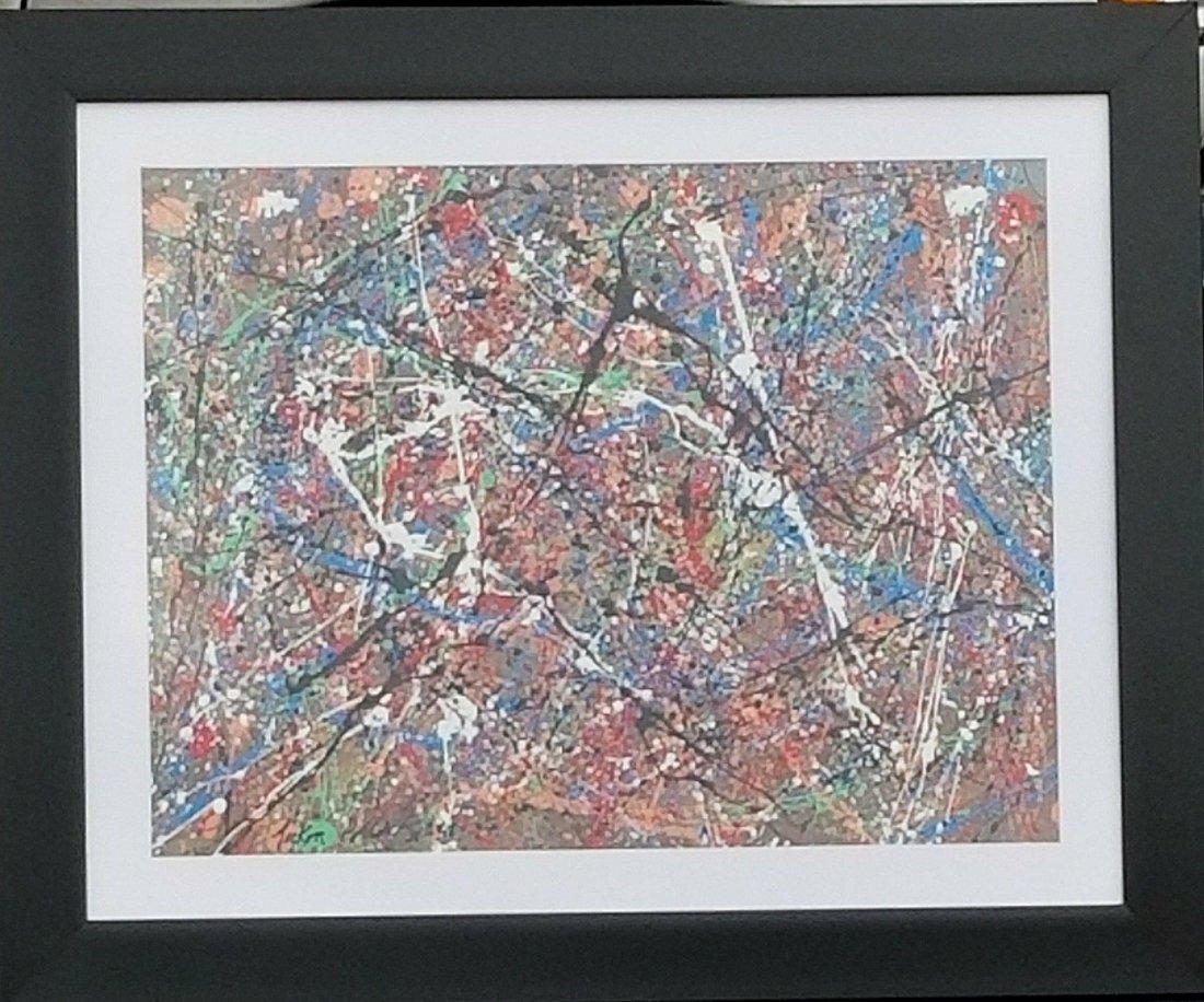 Jackson Pollock (1912-1956) House paint  on hard