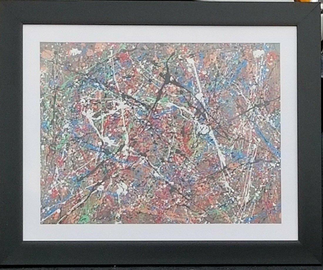 Jackson Pollock (1912-1956) House paint  on hard - 2