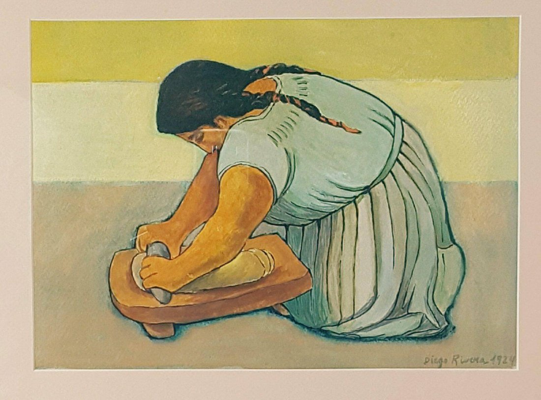 Diego Rivera(1886-1957) - Water color on paper- ATTRIB.