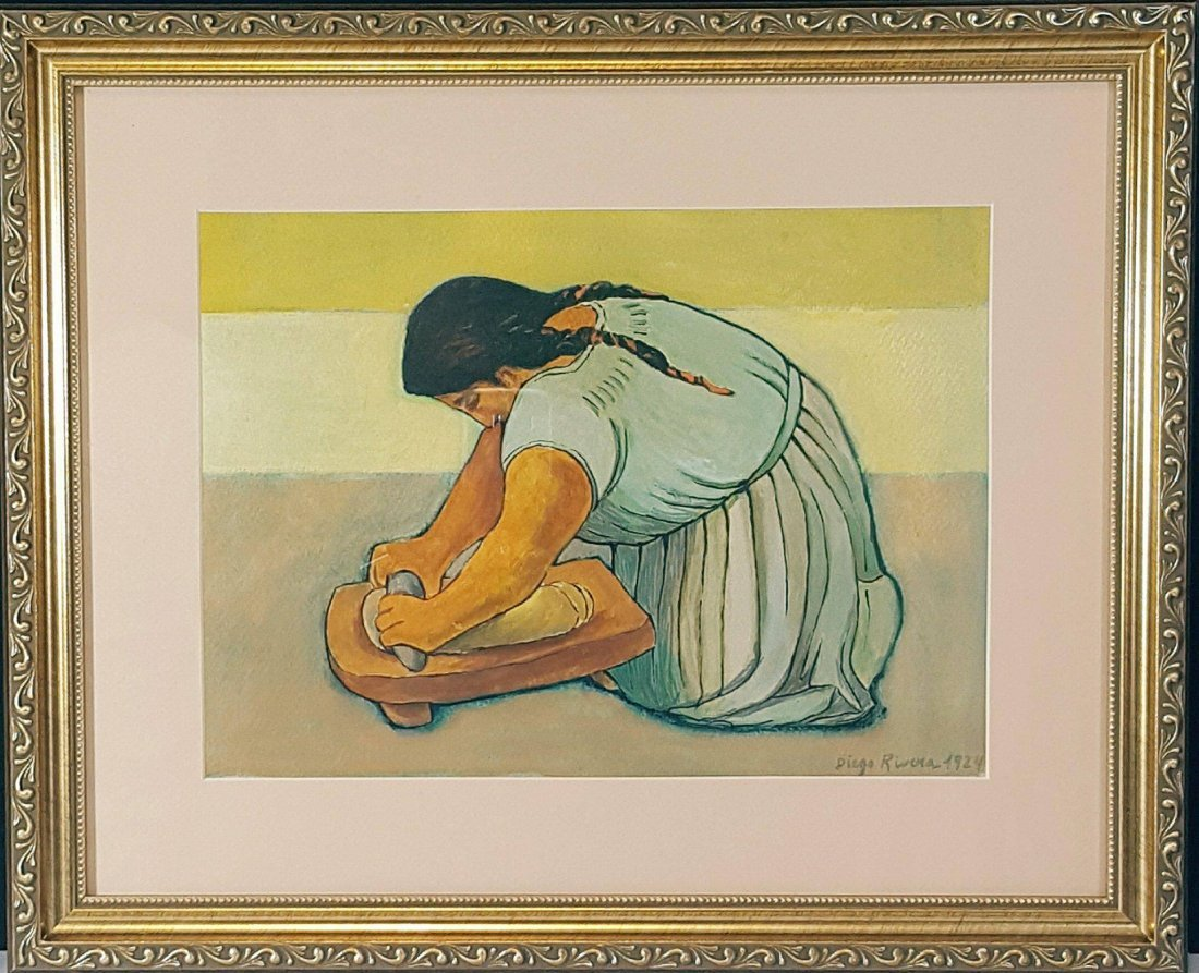 Diego Rivera(1886-1957) - Water color on paper- ATTRIB. - 2