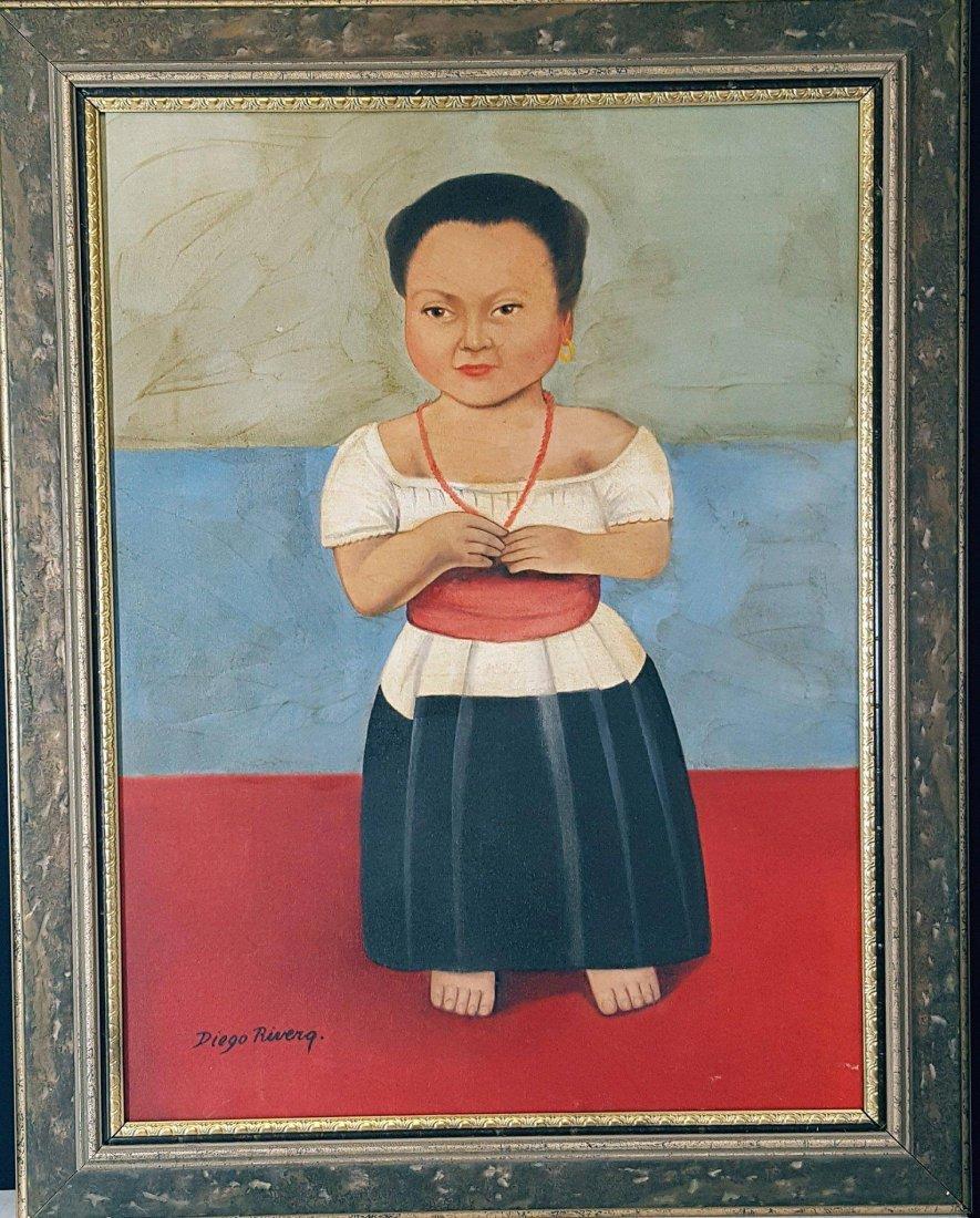 Diego Rivera(1886-1957) - oil on canvas- ATTRIB. COA-