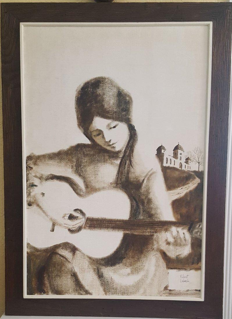 The Guitar Girl byRobert Lebron (coa) by the Fundation