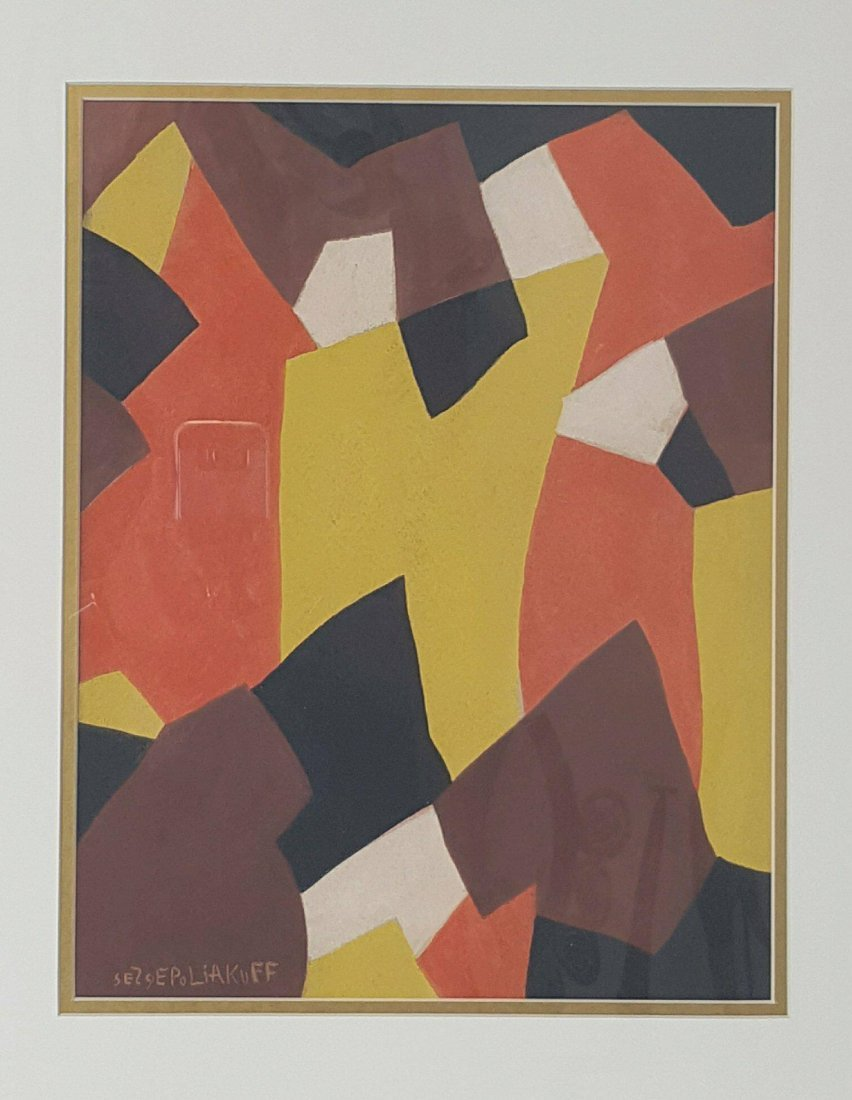 Serge Poliakoff The Russian painter born in Moscow in