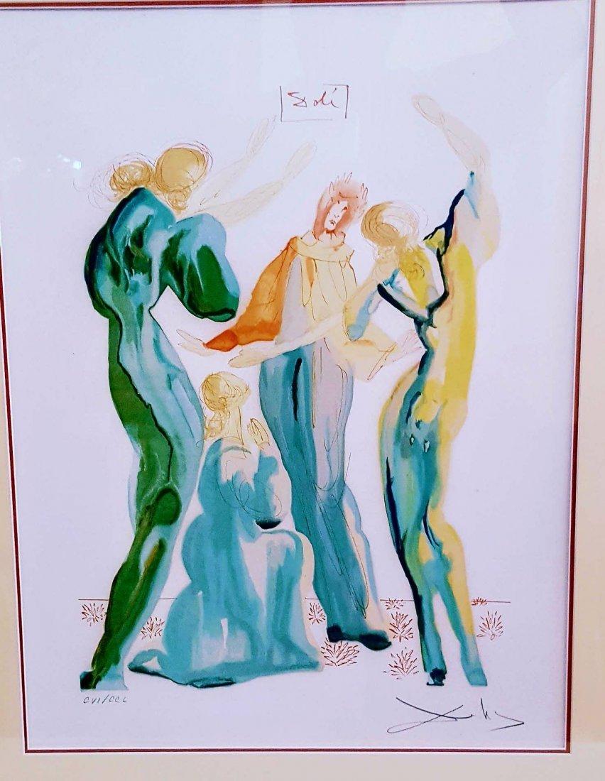 (The Dance )  -Serigraph for Salvador Dali  (1904-1989