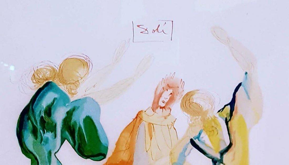 (The Dance )  -Serigraph for Salvador Dali  (1904-1989 - 2