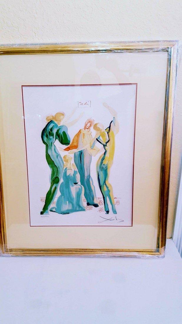 (The Dance )  -Serigraph for Salvador Dali  (1904-1989 - 3