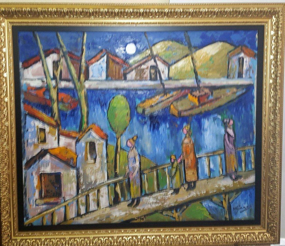 Jose Maria Mijares (1921-2004)-Oil on Canvas-  COA-