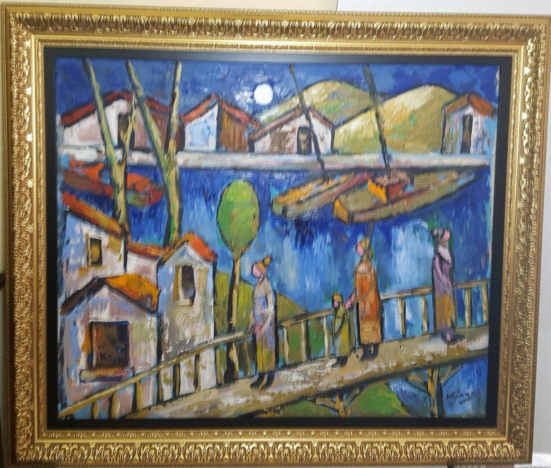 Jose Maria Mijares (1921-2004)-Oil on Canvas-  COA- - 2